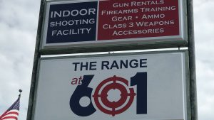 The Range at 601 Sign